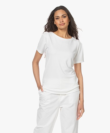Plein Publique La Poppy Modalmix Piqué T-shirt - Ivory