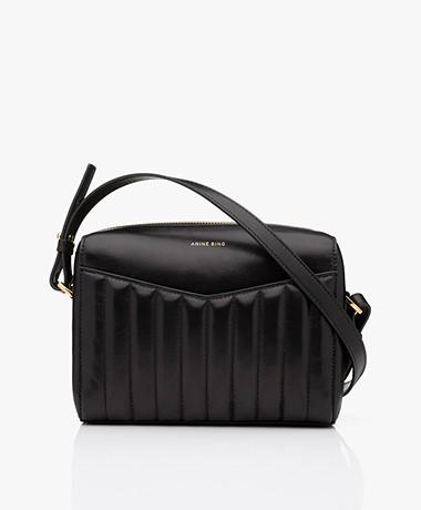 ANINE BING Ellis Padded Leather Crossbody Bag - Black