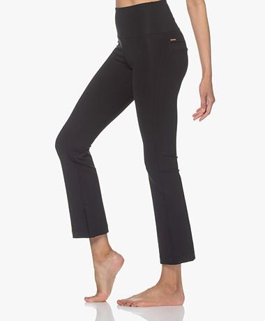 Deblon Sports Celine Cropped Flared Legging - Zwart