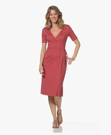 Majestic Filatures Soft Touch Jersey Wrap Dress - Blush