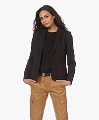 Drykorn Selsey Ponte Jersey Blazer - Zwart
