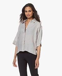 Drykorn Therry Linnen Blouse - Greige