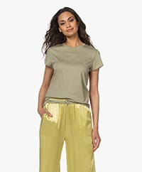 Filippa K Edna Bio Katoenen T-shirt - Sage Green