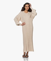 By Malene Birger Arisarum Rib Jersey Maxi Jurk - Wood