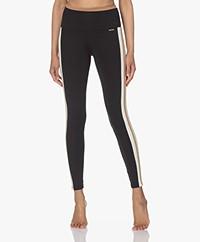 Deblon Sports Jade Tri-color Leggings - Black/Off-white/Camel