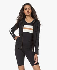 Deblon Sports Zoe Sweatvest met Capuchon - Zwart/Off-white