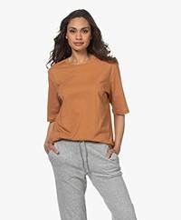 Filippa K Clara Ronde Hals T-shirt - Copper Brown