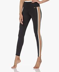 Deblon Sports Kate Sports Leggings - Black/Camel/Off-white