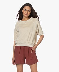 by-bar Neva Slub French Terry Sweater - Chalk