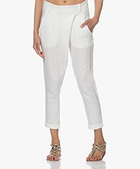 Woman by Earn Earn Summer Linnen Broek - Off-white