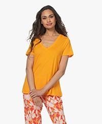 HANRO Modalmix V-hals T-shirt - Sunny