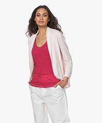 Majestic Filatures Jersey Linen Blend Open Cardigan - Pétale