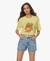 Closed Katoenen Print T-Shirt - Strong Mustard