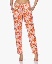 HANRO Sleep & Lounge Jersey Print Broek - Sunny Flower