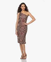 Majestic Filatures Jersey Asymmetric Print Dress - Sunset