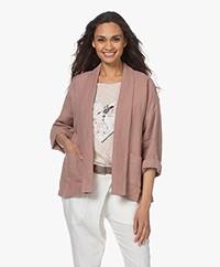 indi & cold Oversized Linen Kimono Jacket - Lavanda