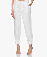 ba&sh Valmy Cotton Pants - White