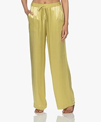 Closed Evelyn Satin Loose-fit Pants - Strong Mustard