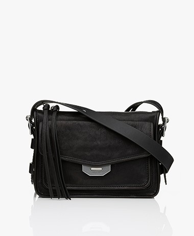 Rag & Bone Small Field Messenger Lamb Leather Bag - Black