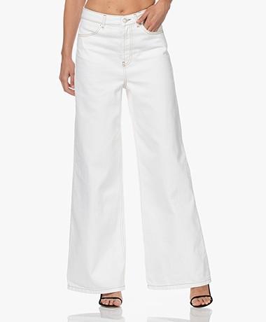 ba&sh Csoul Wide Leg Jeans met Hoge Taille - Ecru