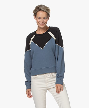 ba&sh Brick Sweater with Piping Detailing - Blue