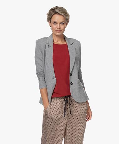 Repeat Tailored Jersey Blazer - Grey Melange