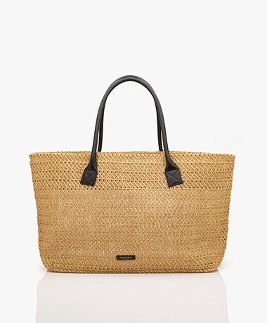 By Malene Birger Avali Paper Straw Bag - Prairie Sand
