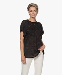 IRO Dyro Viscose Blend T-shirt - Black Melange