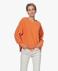 FRAME Pima Cotton Sweatshirt - Washed Tangerine