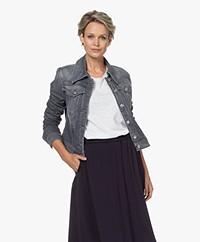 Drykorn Somerton Cotton Blend Denim Jacket - Grey