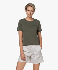 Drykorn Anisia Katoenen T-shirt - Groen