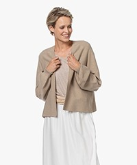 Drykorn Manui Cotton and Cashmere Blend Cardigan - Brown