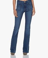 FRAME Le Bardot Flare Stretch Jeans - Decades Blue