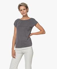 Plein Publique Le Calin Cupro T-shirt - Anthracite