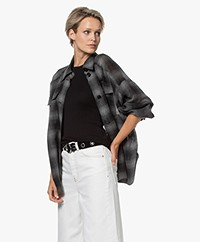 Drykorn Jarah Check Wool Blend Shirt - Phantom Grey