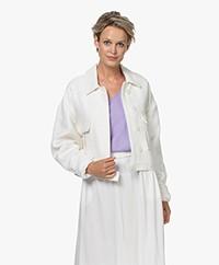 ANINE BING Adriana Cotton Tweed Jacket - Ivory