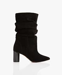 IRO Cynar Suede Boots - Black