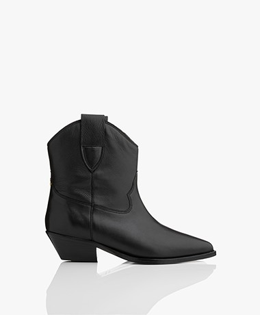 Jerome Dreyfuss Sabine Western Ankle Boots - Black