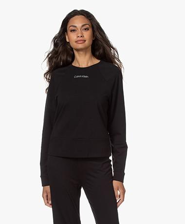 Calvin Klein Reconsidered Comfort Logo Sweater - Black