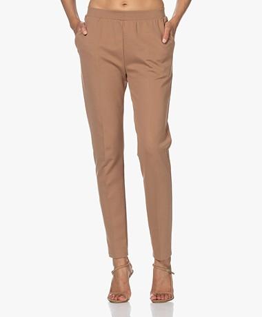 LaSalle Ponte Jersey Slim-fit Broek - Camel