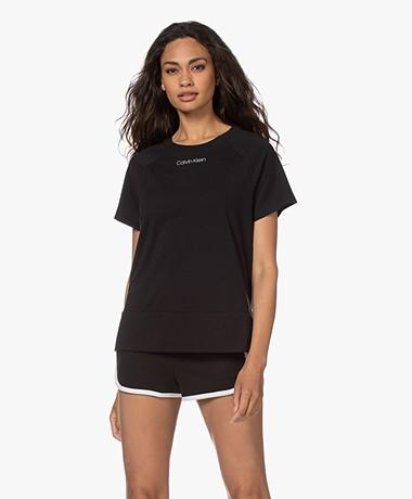 Calvin Klein Logo Lounge T-shirt - Zwart