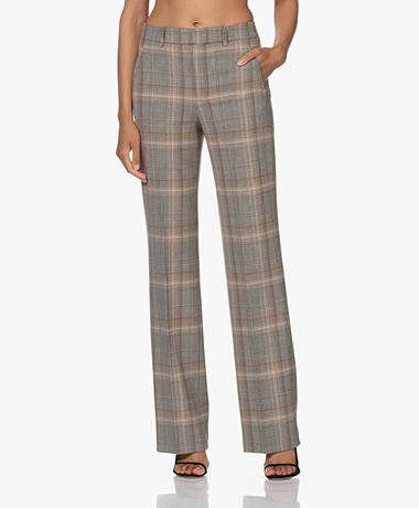 Drykorn Header Viscose-Wool Blend Pants - Almond Multi-color