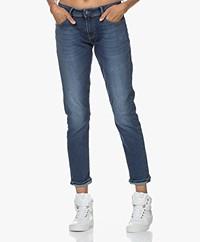 Denham Monroe Girlfriend Fit Jeans - Donkerblauw