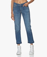 Zadig & Voltaire Boyfit Katoenmix Stretch Jeans - Blauw