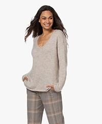 Sibin/Linnebjerg Diana Mohair Mix V-neck Sweater - Kit