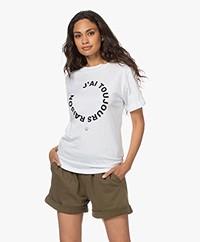 Plein Publique J'ai Toujours Raison Modalmix T-shirt - Wit