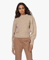 Les Coyotes de Paris Mindy Puff Sleeve Sweater - Beige Melange