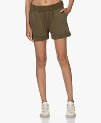 FRAME Rolled Up French Terry Bio Short - Washed Moss