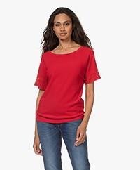 Plein Publique La Scott Short Sleeve Sweater - Red