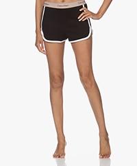 Calvin Klein Logo Lounge Shorts - Black/Honey Almond